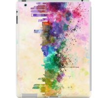 Abu Dhabi skyline in watercolor background iPad Case/Skin