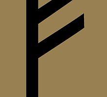 Rune Fehu - luck, prosperity & personal power by nitty-gritty