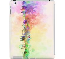 London skyline in watercolor background iPad Case/Skin