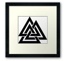 Walknut / Valknut - Wotan's Knot / Odins Knot Framed Print