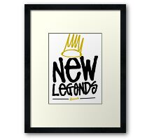 Dreamville - New Legends (Black Font) Framed Print