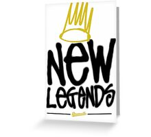 Dreamville - New Legends (Black Font) Greeting Card