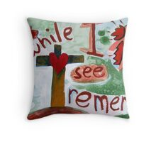 Even While I See Throw Pillow