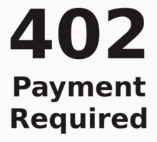 402 Payment Required White T-Shirt Kids Clothes