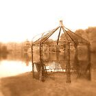 Gazebo & Lake at Powdermills Hotel Sussex by Tony Jones