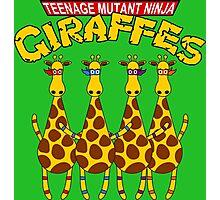 Teenage Mutant Ninja Giraffes Photographic Print