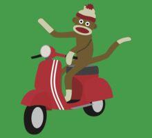 Sock Monkey Vespa Scooter Kids Clothes