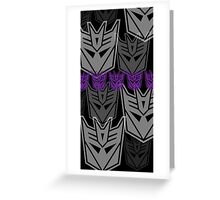 The Iconic Decepticons (black) Greeting Card