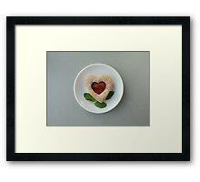 cookies heart Framed Print