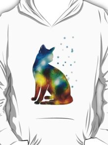 Galactic Space Pussy On Milky Way, Cat, Space, Galaxy T-Shirt