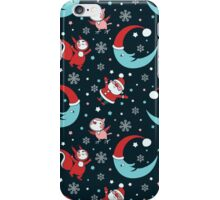 Christmas Animals and Little Santa Pattern. iPhone Case/Skin