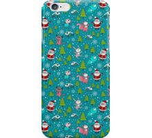 Christmas Forest Animals and Santa Pattern. Merry Christmas! iPhone Case/Skin