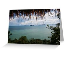 Sea View with Frame Greeting Card