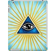 All Seeing Eye Of God, Flames - Symbol Omniscience iPad Case/Skin