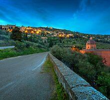 Cortona Tuscany at dusk by SpikeFlutie
