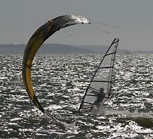 Kitesurfer v Windsurfer by hcd202