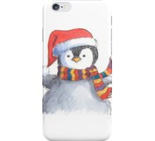 Cute Christmas penguin chick iPhone Case/Skin