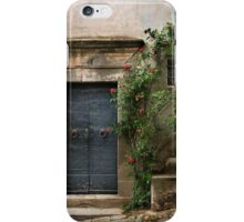 Facade with roses iPhone Case/Skin