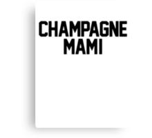 Champagne Mami [White] Canvas Print