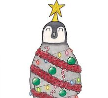 Christmas Penguin by Ollie Bright