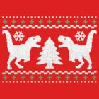 Ugly T-Rex Christmas Holiday Sweater Design by robotface