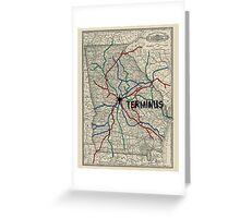 Terminus Map Greeting Card