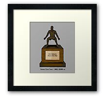 Defensive Player Trophy / Smile Design 2014 Framed Print