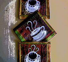 Comic Abstract Coffee Based Art by steelwidow