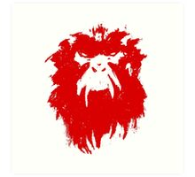 12 Monkeys - Terry Gilliam - Wall Drawing Red Art Print