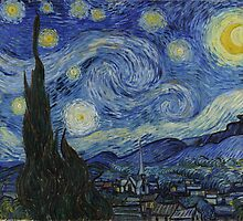 Vincent van Gogh - The Starry Night - 1889 by forthwith