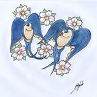 pair of swallows  by inkylady
