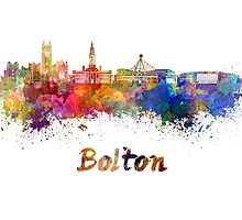 Bolton skyline in watercolor by paulrommer