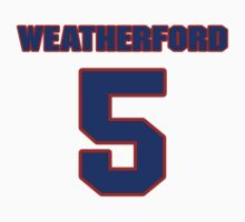 National football player Steve Weatherford jersey 5 by imsport