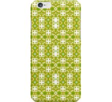 Green, Gold and White Abstract Design Pattern iPhone Case/Skin