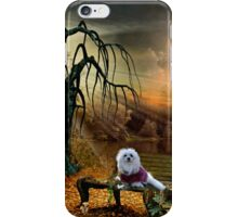 Snowdrop the Maltese - Shades of the Fall iPhone Case/Skin