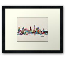 sacramento cailfornia watercolor Framed Print