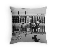 Behind the Gare Saint Lazare Throw Pillow