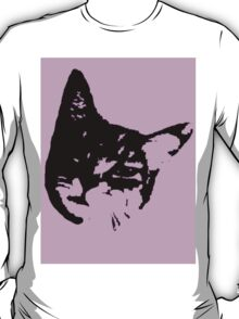 Pink Kitty Head T-Shirt