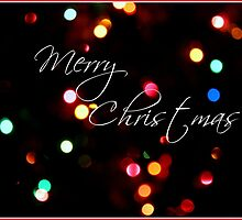 Merry Christmas Lights holiday card by kfisi