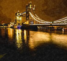 Artwork - Tower Bridge Golden by ncp-photography