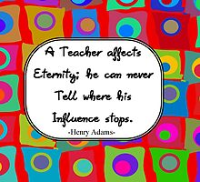 Retro Teacher Art with Quote by gailg1957