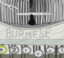burma typewriter Sticker