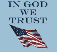 America, In God we trust, USA, American official motto Kids Clothes