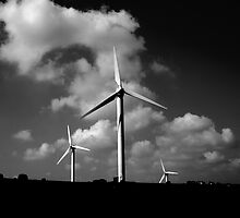 wind turbines by Stuart Elliott