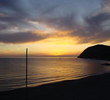 Sunset in Levanto by Karen Ashenberner
