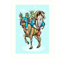 A One Piece Holiday Art Print