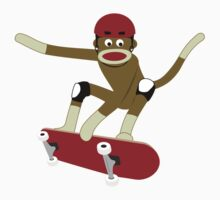 Sock Monkey Skateboarder Kids Clothes