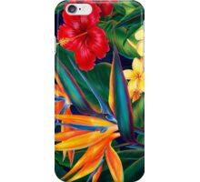 Tropical Paradise Hawaiian Birds of Paradise Illustration iPhone Case/Skin