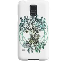Coloured psychedelic tree Samsung Galaxy Case/Skin