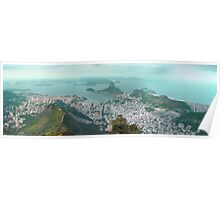 Sugar Loaf from Corcovado Poster